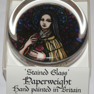 St Therese Paperweight