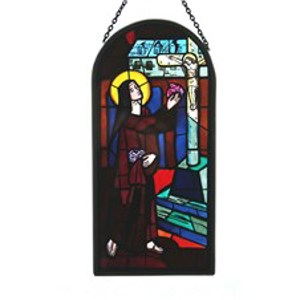 St Therese Glass Panel