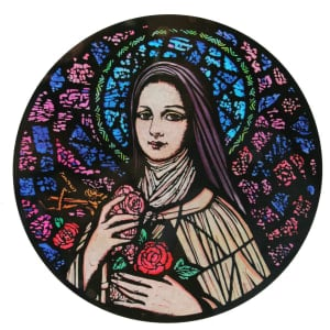 St Therese Window decoration
